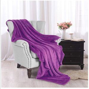 "Fleece Soft Throw Blanket – 50"" x 60"" (Purple)"